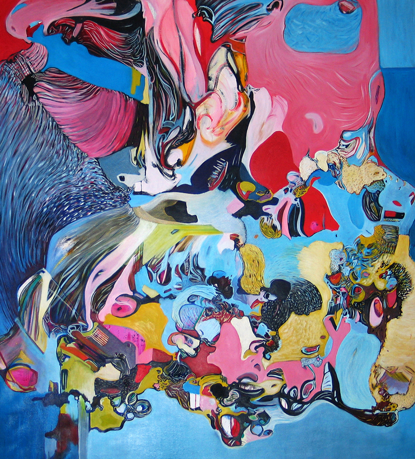 :: THE ELEPHANT IN THE ROOM :: OIL PAINT ON CANVAS :: 153 X 170 CM / 2009